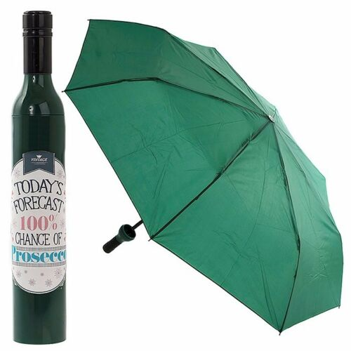 Gift Prosecco Bottle Fold Umbrella /'Today/'s Forecast 100/% Chance of Prosecco/'