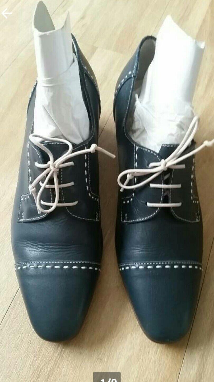 Blfredo Giantin Schuhe, Leder, Halbschuhe, Schnürschuhe, Größe 40