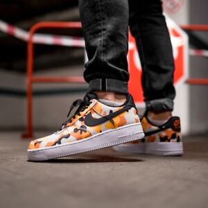 Details about NIKE AIR FORCE 1' 07 LV8 TEAM ORANGE CAMO MEN'S SHOES SLYTE 2018 AUTHENTIC