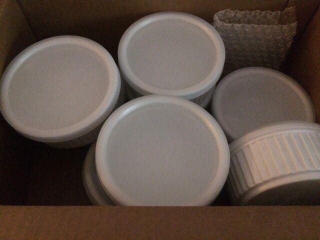 """Vitrified China Souffle, 10 oz, 4-1/2"""", Porcelain White (Pack of 8) storage bowl  eBay"""