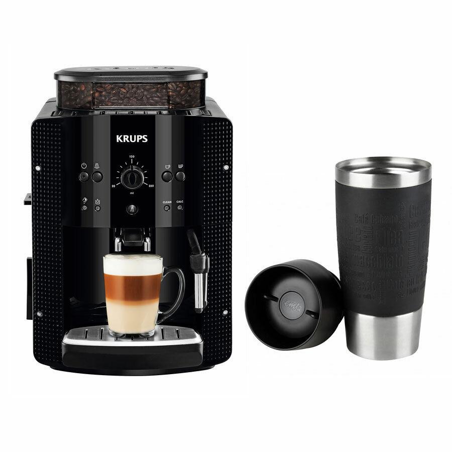 Krups EA 8108 Espresso-Espresso + Emsa Travel Mug Isolierbecher Noir