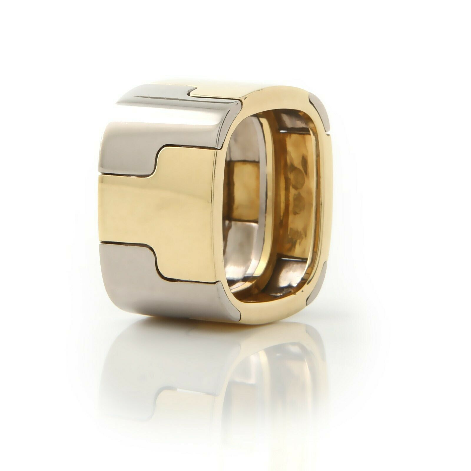 Gubelin, Contemporary, Wide 18k,Two-Tone Band - image 2