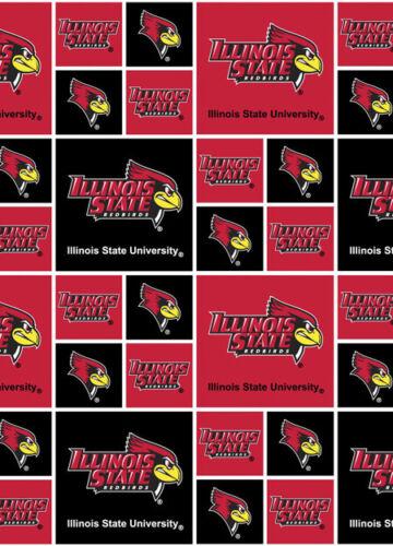 Illinois State University ISU Redbirds Cotton Fabric Geometric Print-By the Yard