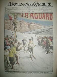 SKI-CHAMPIONNAT-UNIVERSITAIRE-ITALIE-HAUT-ADIGE-LA-DOMENICA-DEL-CORRIERE-1920