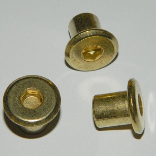 ISK 5mm  geschlossen 10 Stk gelb verzinkt Hülsenmuttern  M6 Typ RFL Stahl