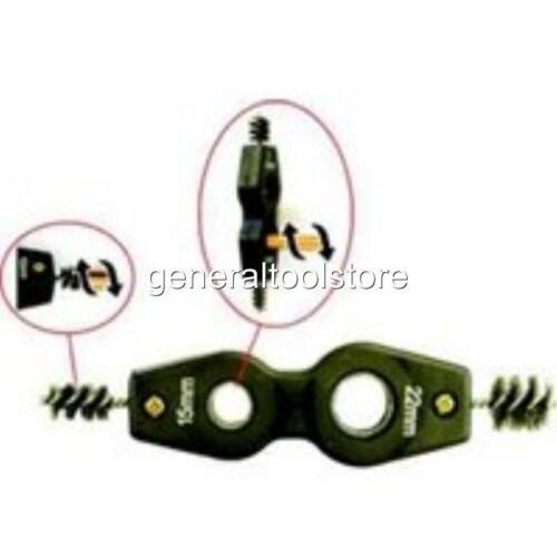 Conducto de cobre 15MM//22MM Limpiador /& deburrer Cepillo de Alambre S367970 de plomería