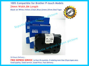 1x Brother TZ-251 P-Touch Compatible Black on White Label Tape 24mm 8m TZe-251