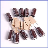 (10pcs) 100uf 63v Nichicon Radial Electrolytic Capacitors 8x16mm Pw(m)