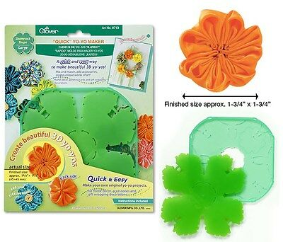 Clover Quick Yo-Yo Maker Shamrock Shape Large #CL8713 Sewing Quilting Notions
