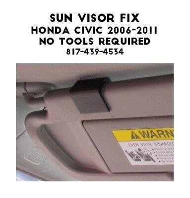SI-AT11110 Easy DIY Fix for Sagging Drooping for Honda Civic Sun Visor Black