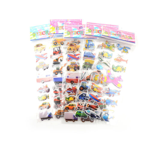 5pcs Bubble Stickers 3D Cartoon KIds ClassicToys Sticker School Reward giftRDR
