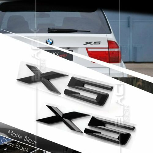 BLACK REAR BOOT TRUNK LETTER EMBLEM BADGE FOR BMW E70 E53 X5 SUV X DRIVE
