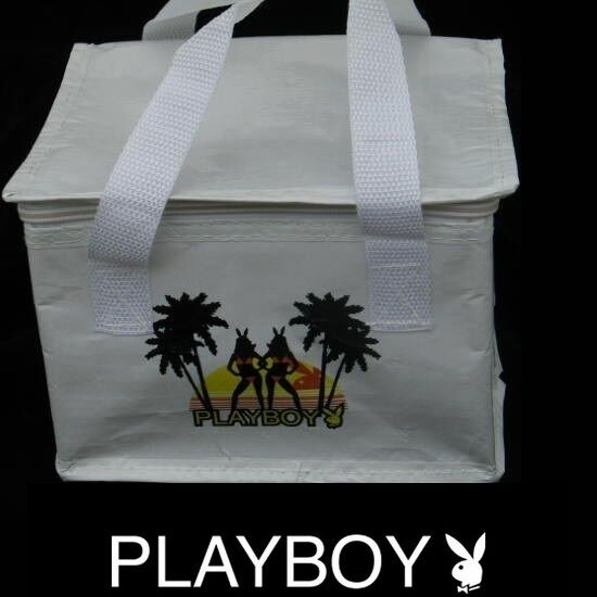 NEW Playboy Lunch Bag Tote Box Insulated Cooler Drink Food Picnic Beach Bunny 20