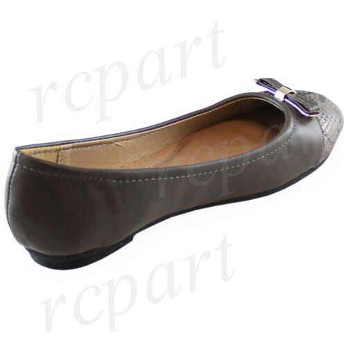 New women/'s shoes ballet flats synthetic material party casual comfort gray