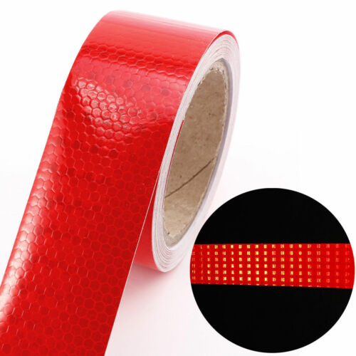 10M Safety High Intensity Reflective Tape Vinyl Roll Self-Adhesive Office Work