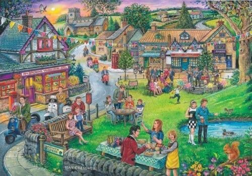 """House of puzzles puzzle 1000 Piece/"""" NEW/"""" Sixties Green size 68x49 cm"""