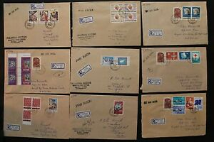 Cyprus-1972-5-Bundle-of-registered-airmail-covers-to-UK-from-Nicosia-GPO-covers