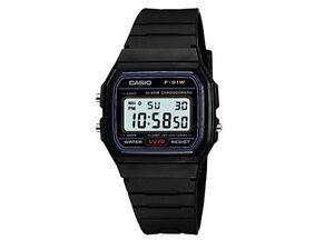 Casio Clásico f-91w-1yer Para Hombre Casual Resistente Al Agua Reloj Digital