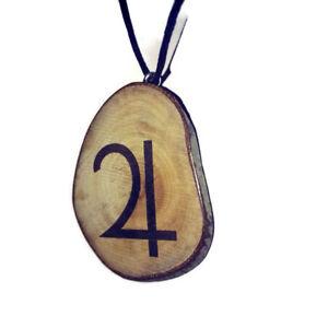 Jupiter-Necklace-Handmade-Wood-Charm-Brown-Eco-Celestial-Symbol-Pendant-Jupiter