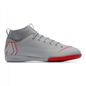 New-Nike-Mercurial-Superfly-6-Academy-GS-IC-Boys-Sock-Trainers-UK-3-to-5-5-Grey