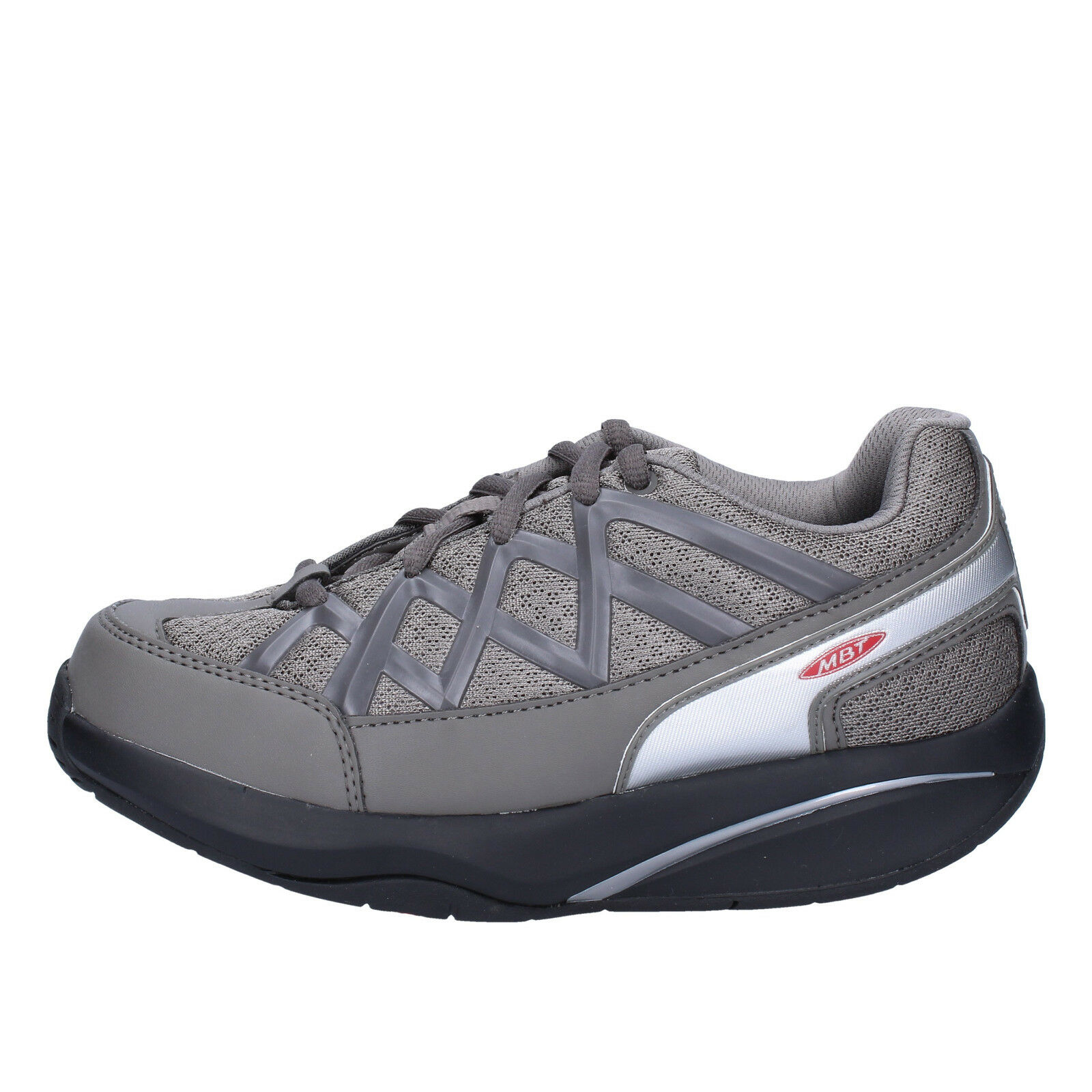 Womens shoes MBT 3 () sneakers grey textile dynamic AB390-35