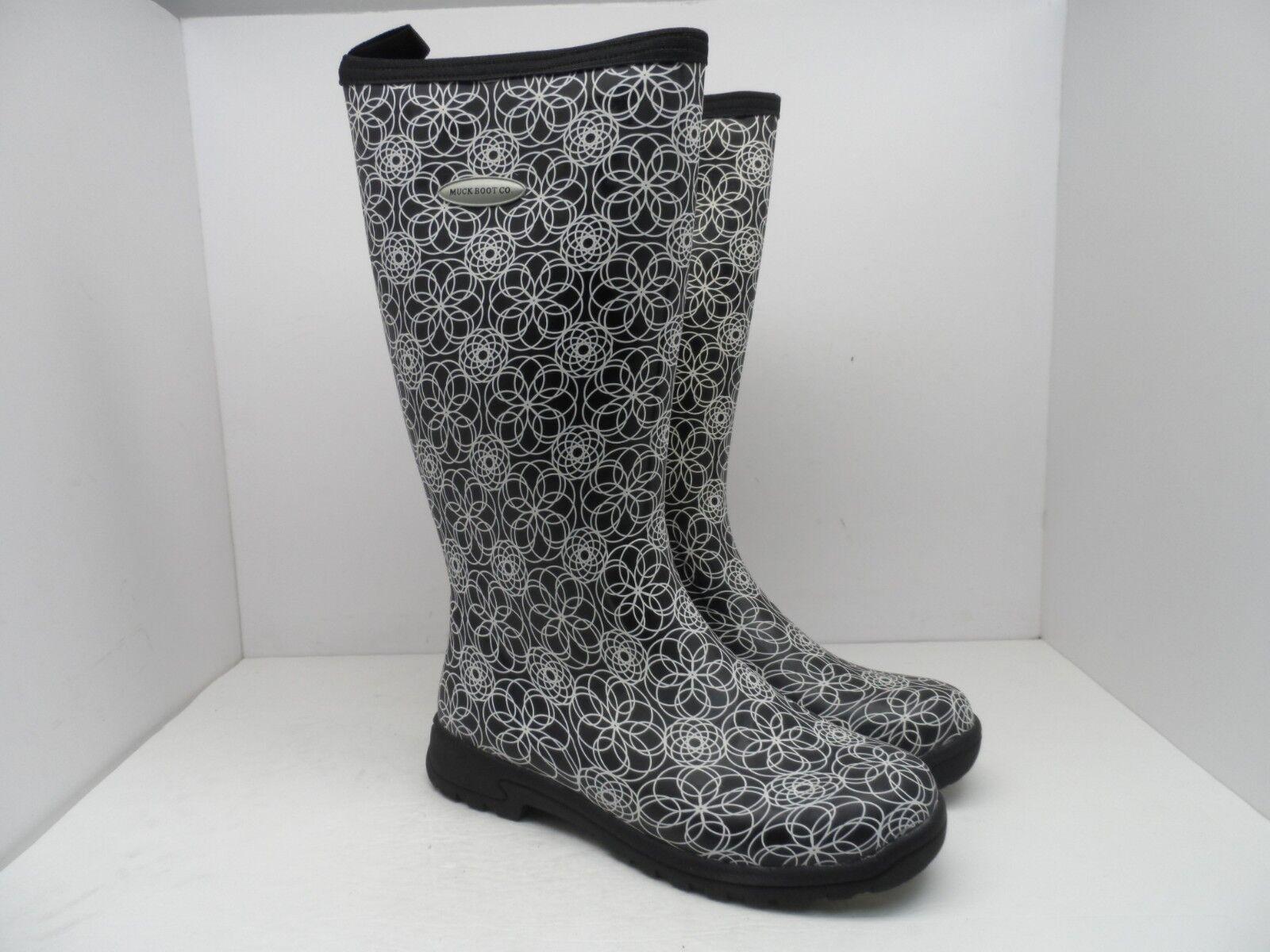 Muck Boots Women's Breezy Tall Insulated Rain Boot BZT-SWL Swirl Print Black 11M