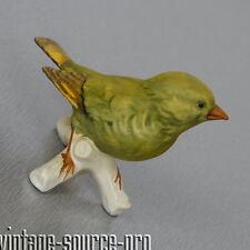 alte Goebel Porzellan Figur Vogel Grünfink Greenfinch 6 cm 80er Jahre W. Germany