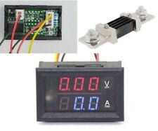 DC 300V 500A Dual LED Digital Volt Amp Voltage Power Meter + 500A/75mV Shunt car