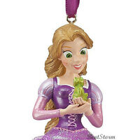 Disney Store Rapunzel Dress & Pascal Tangled Christmas Holiday Ornament 2012