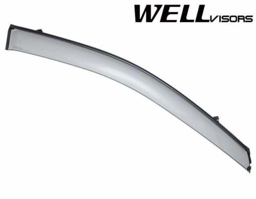 For 03-09 Kia Sorento WellVisors Side Window Deflectors Visors W//Black Trim