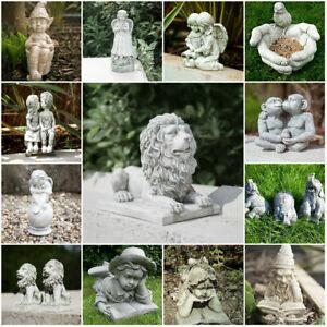 Stone-Effect-Garden-Ornaments-Outdoor-Decor-Unique-Statue-Sculpture-Patio-Angel
