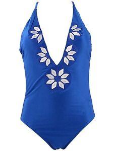 Embroidered-Swimsuit-Bathing-Suit-Bikini-MEDIUM-Siamese-Blue