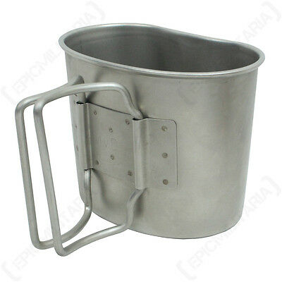 Original Dutch Army Canteen Cup - Genuine Military Surplus Camping Metal Mug