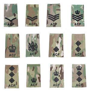 All-Ranks-Pair-Black-on-Multicam-MTP-ACF-Rank-Slides-Cadets-Army-Cadet-Force