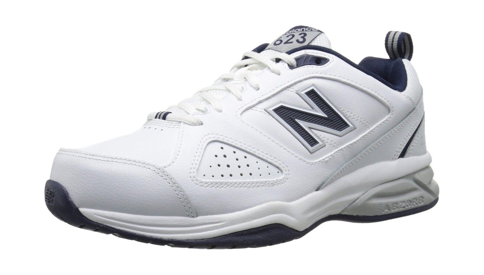 New Balance Men's 623v3 Training shoes White Navy 10 4E US Free Shipping