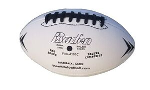 Baden White Football. Composite Leather. Pro Size. www.thewhitefootball.com