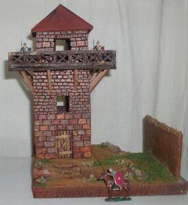 Roemer-Imperium-3068-Roemischer-Limes-Turm-zu-7cm-auf-Base-Fertigmodell-in-Comp