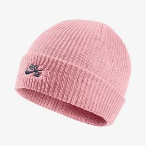 42520a90b8e New Nike SB Fisherman Beanie Winter Hat - Storm Pink Obsidain(628684 ...
