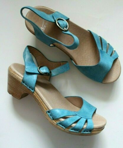 Dansko Marlow Blue Ankle Strap Sandal Womens Size
