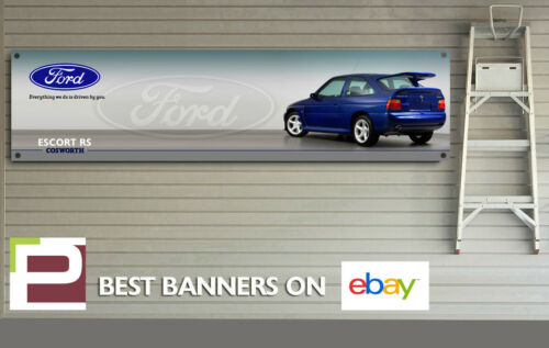 EXTRA LARGE Ford Escort RS Cosworth Banner, for Workshop, garage, Showroom sign
