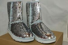 6eda557ec41 UGG Womens BOOTS Classic Short Sequin Silver Size 6 for sale online ...