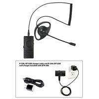 Pryme Bth-300-kit5 Bt Mic W/ Ranger D-ring Earphone For Radios + Cell Phones