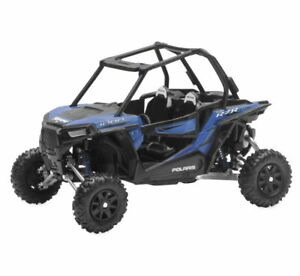 Polaris Side By Side Atv >> Details About Nib New Ray Polaris Rzr Xp1000 Side By Side Atv Blue 1 18 Diecast Model