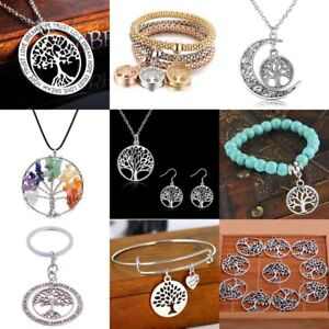 925-Silver-Family-Wish-Tree-Jewelry-Sets-Necklace-Earrings-For-Women-039-s-Gifts-New