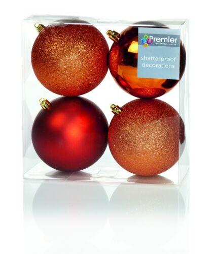 Sapin de Noël Décorations Arbre Boules Paillette Brillant /& Mat Divers Formes