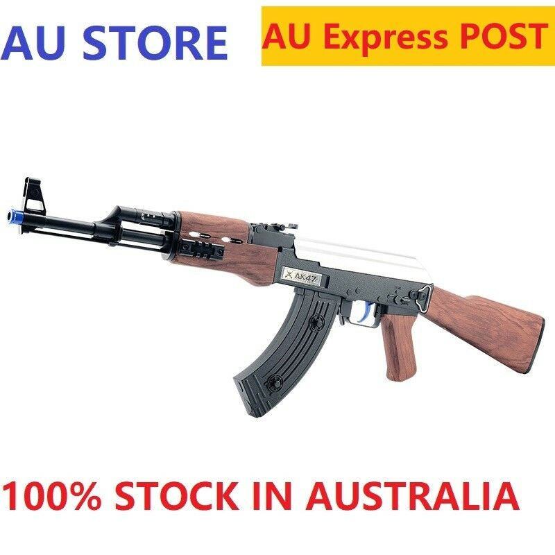 Au Store AK47 Gel Ball Toy Blaster Mag-Fed Water Crystal Bullet Darts Adult  Size