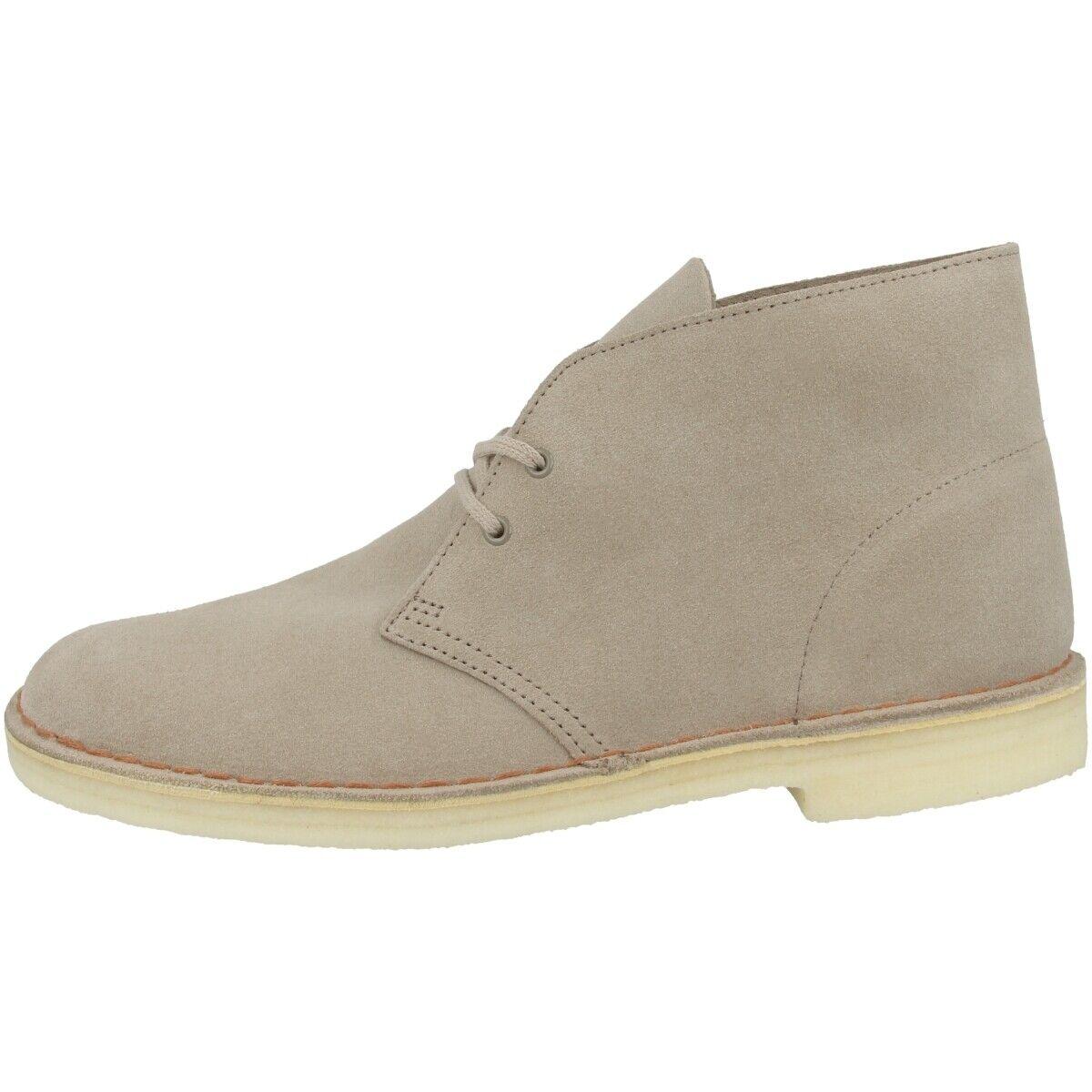 Clarks Desert bota Men zapatos caballero botas schnürzapatos arena Suede 26138235
