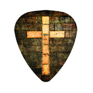 12 Pack Forgive FAITH JESUS Picks Wooden Cross Religious Christian Pick