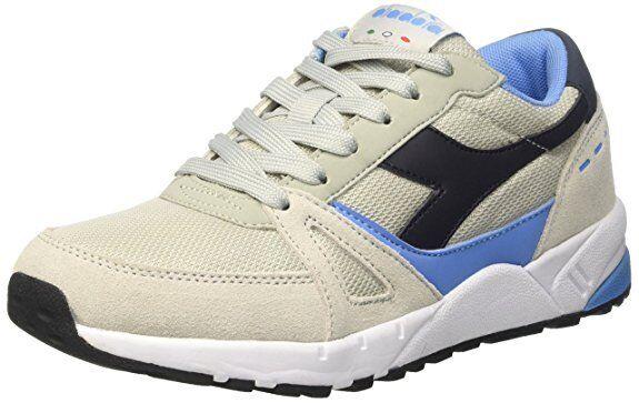 Schuhe Diadora Run 90 Art. 170826 mit C6490 Beige-Schwarz-Blau Turnschuhe Mode