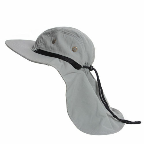 Fishing Camping Sports Boonie Snap Hat Outdoor Brim Cap Ear Neck Cover Sun Flap